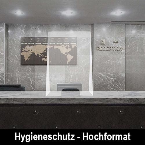 Hygieneschutz - Hochformat